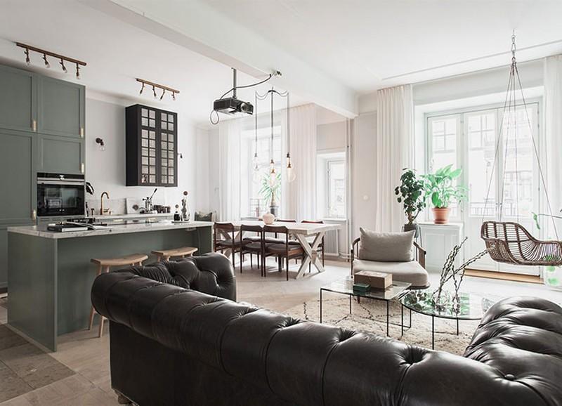 Binnenkijken in een appartement met een mix van stijlen