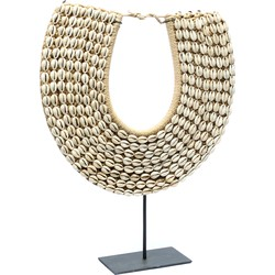 The Papua Shell Necklace on Stand - Natural White