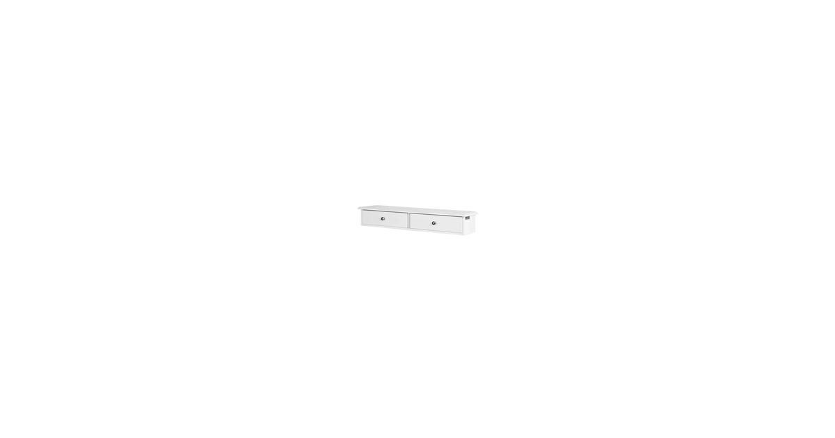 Simpletrade Ladekast - Wandkast - 2 lades - Hout - 64x15x10 cm