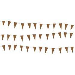 Delight Department  Mini vlaggetjes slinger - Bruin leder | 3 m