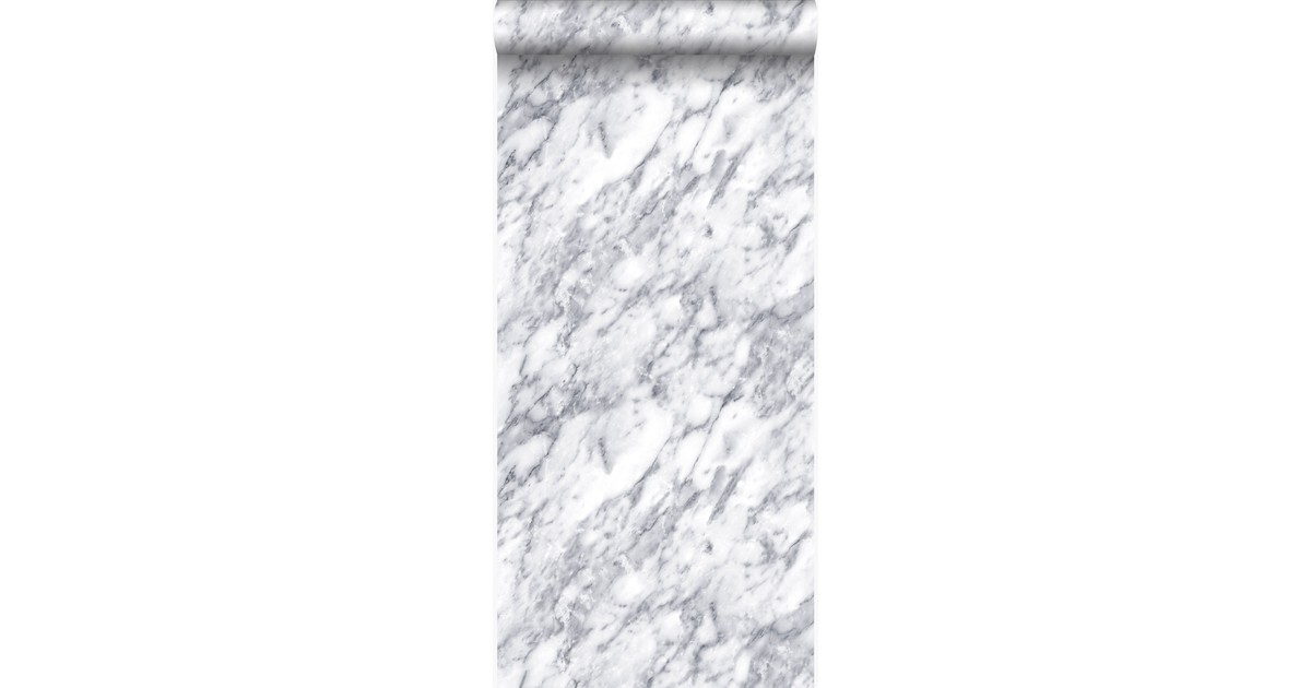 Origin behang marmer donker ivoor wit