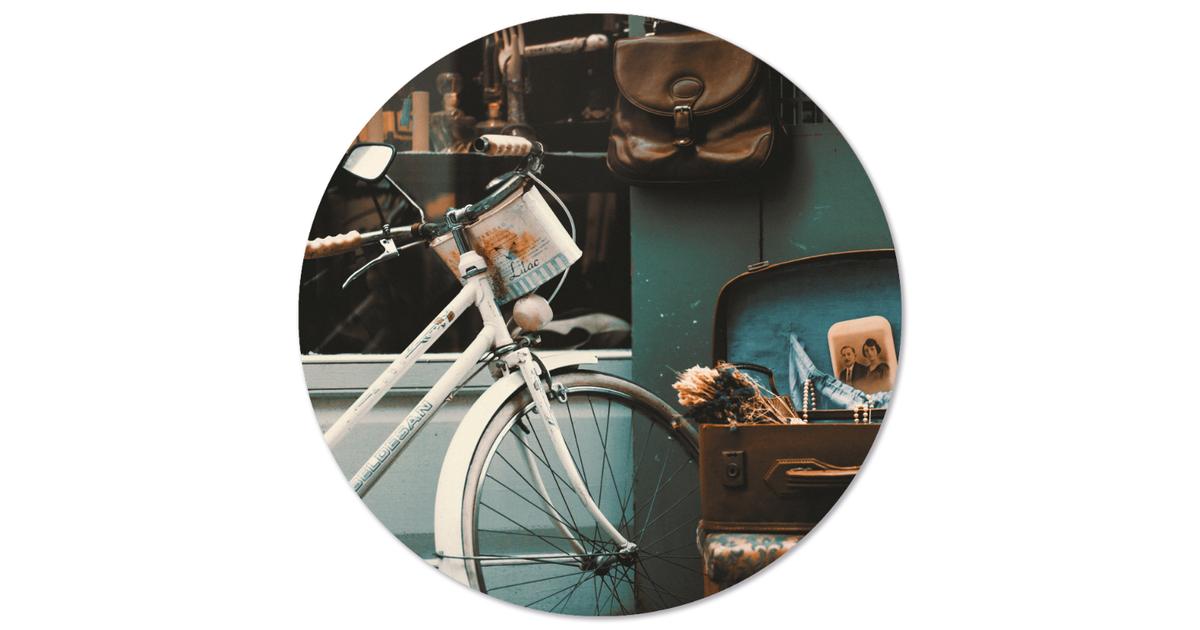 Muurcirkel klein vintage - Ø 20 cm