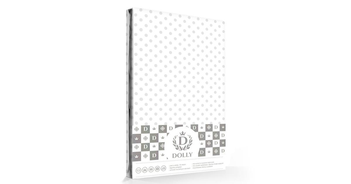 Dolly Hoeslaken Dots Wit/Grijs-70 x 140 cm