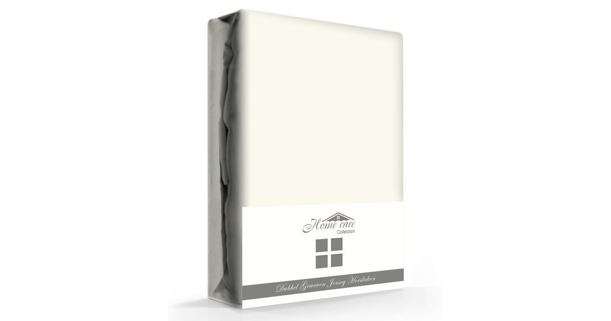 Dubbel Geweven Hoeslaken Creme Home Care -160/180 x 200/220 cm