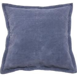 Sierkussen Flinn 45x45 cm blauw