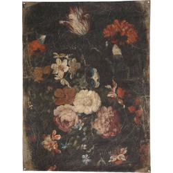 PTMD Guido Black wall painting paper flowers