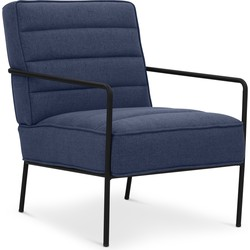 Lanterfant® Loungestoel Cleo - Blauw - Relaxstoel - Stalen frame