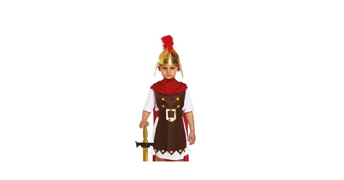 4-Delig Romeinse Gladiator - Jongen - Harnas/Riem/ Cape en Beenbeschermers - Gladiator - Generaal -