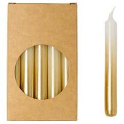 Rustik Lys - Potloodkaarsjes Wit / goud S