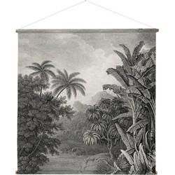 HKliving schoolplaat wandkaart jungle XXL 154x154x2cm