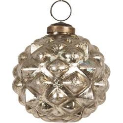 Clayre & Eef Kerstbal - Ø 8 cm - goudkleurig - glas - rond - Clayre & Eef - 6GL2660
