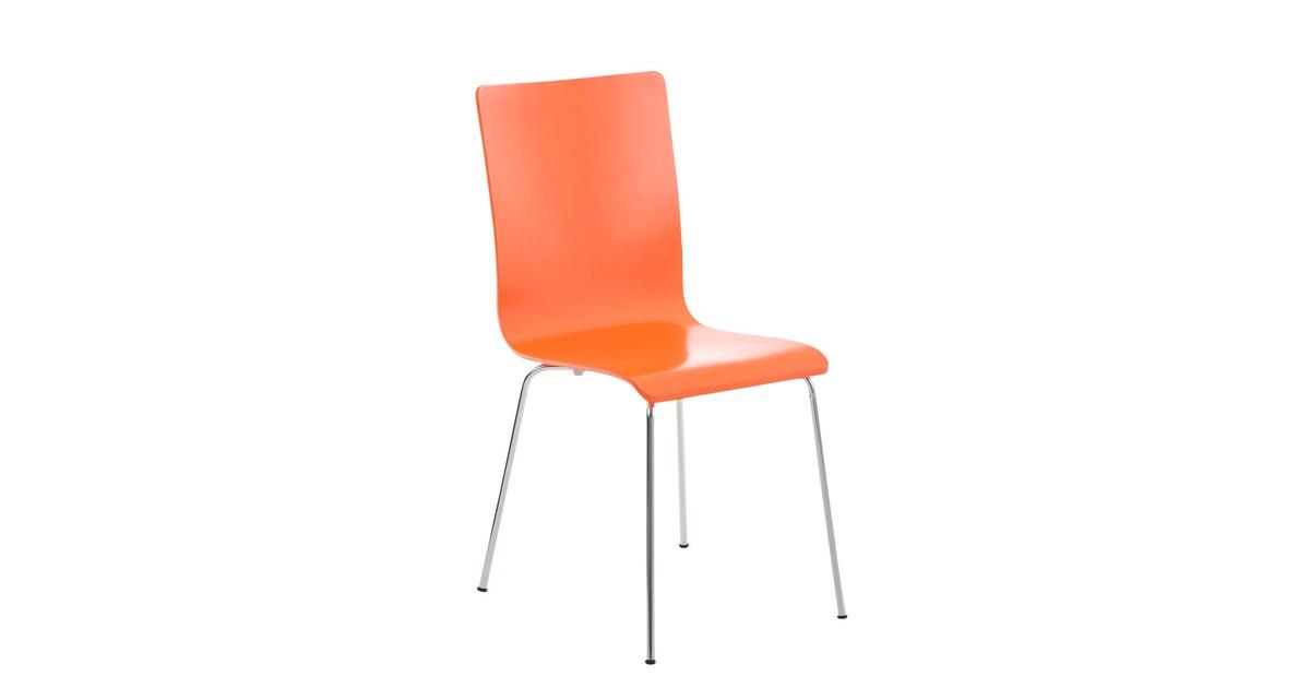 Storelvi Eetkamerstoel - Modern - Oranje - Metaal - 43 cm x 47 cm x 87 cm