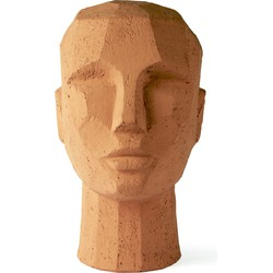sculptuur abstract head terracotta 25 x 18 x 15