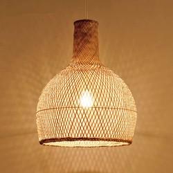 Groenovatie Bamboe Hanglamp, Handgemaakt, Naturel, ⌀40 cm