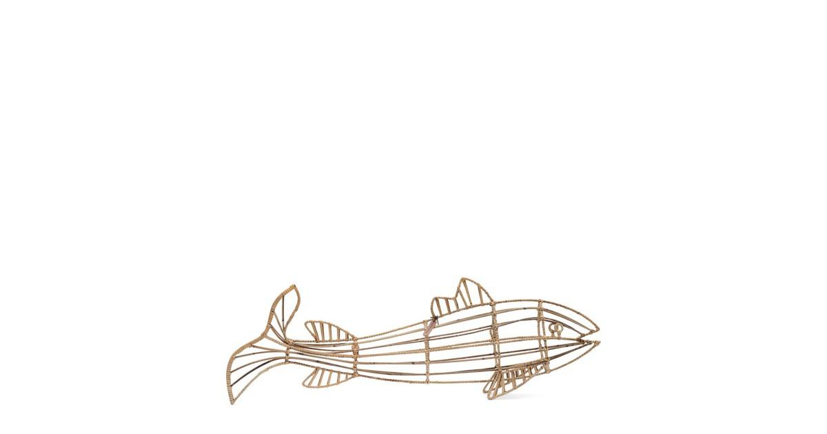 Riviera Maison Fabulous Rattan Fish M Natural Hout 12.0 x 93.0 online kopen