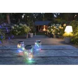 LED LOVERS LED Sfeerverlichting, Set van 3, Multicolor Solar Jar, Decoratieve Tafelverlichting, Tafellamp op Zonne-energie, Fairy Lights