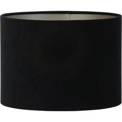 Lampenkap cilinder VELOURS - 35-35-25cm - zwart-taupe