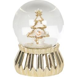 Clayre & Eef Sneeuwbol Kerstmis 64552 Ø 4*6 cm - Goudkleurig Polyresin / glas