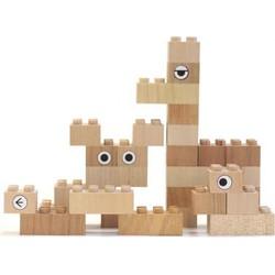 Houten bouwblokken | Kodomo 34 stuks