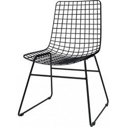 Draadstoel Wire - Zwart - Metaal - HK Living