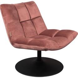 fauteuil Bar velvet oud roze 78 x 66 x 81