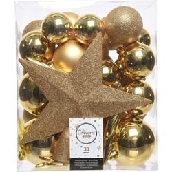 Kerstboomversiering Mix 33 st. - Licht Goud