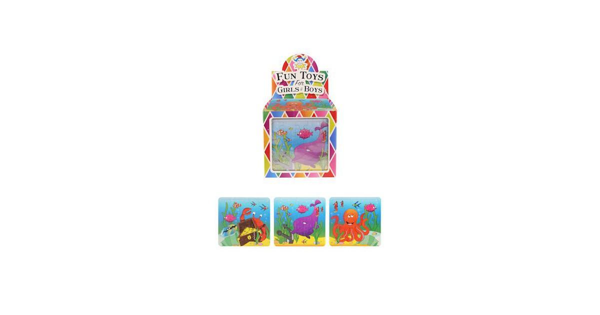 108 Stuks - Puzzels - Sea Life - 13x12 Cm - In Traktatiebox - Uitdeelcadeautjes - Puzzel - Traktatie