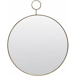 House Doctor PM0151 Wandspiegel - The Loop - ø38cm - Metaal - Goud