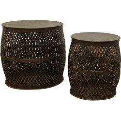 Pole to Pole - Coffee table Woven set of 2