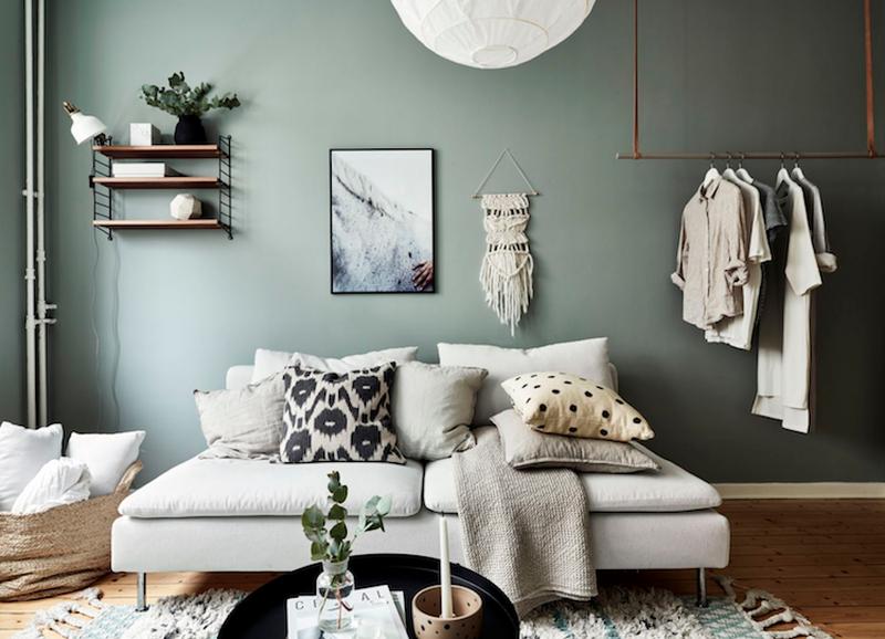Shop the look: klein appartement in groentinten