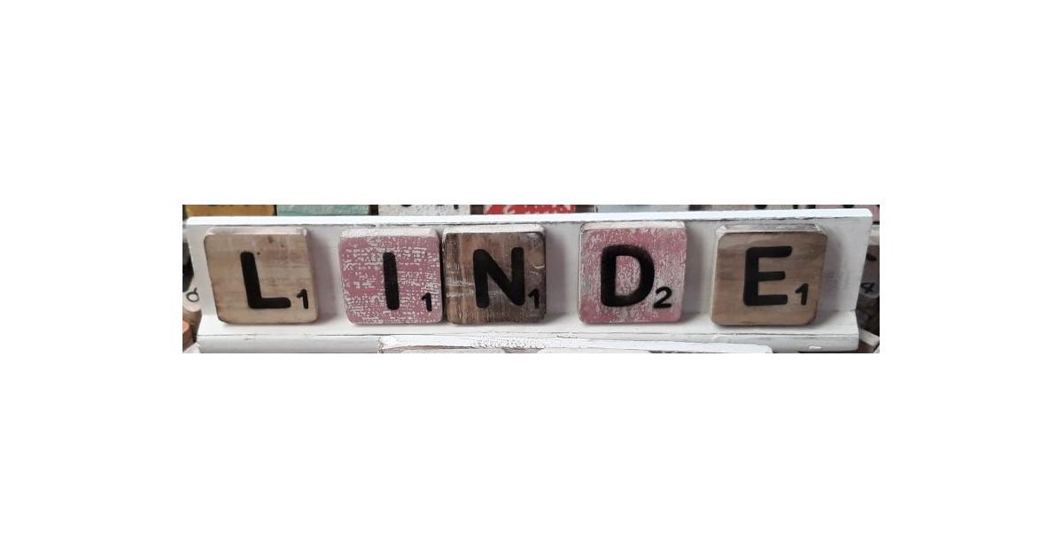Warentuin over Zee Scrabble letterplankje 40 cm