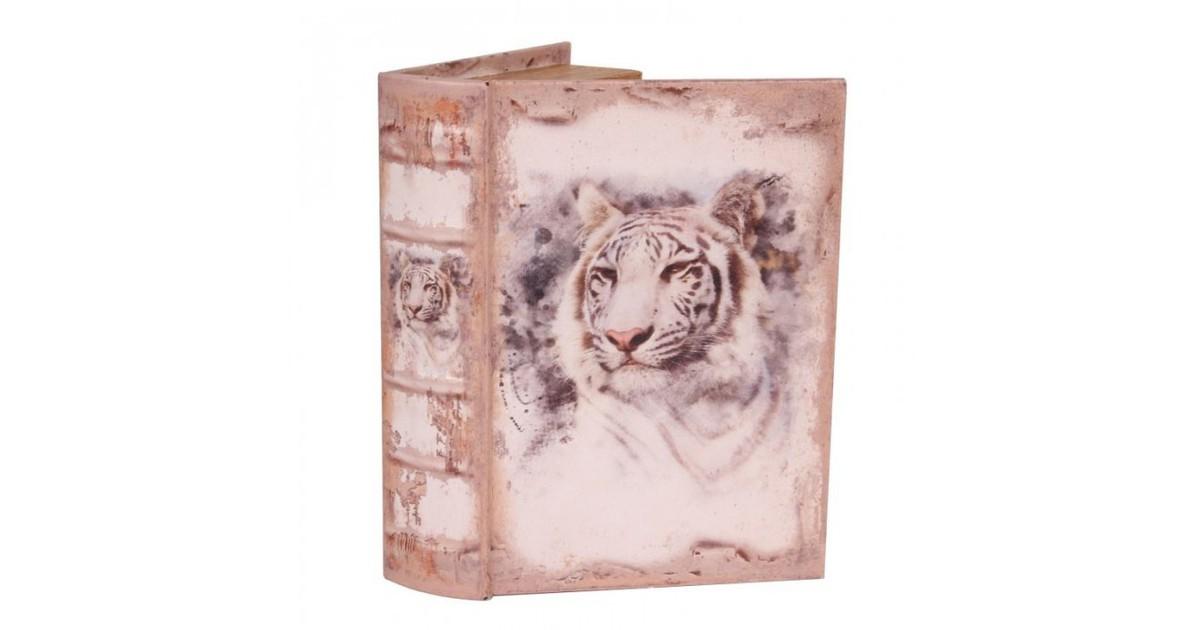 Baroque Collectie Boek doos 23 cm Witte tijger
